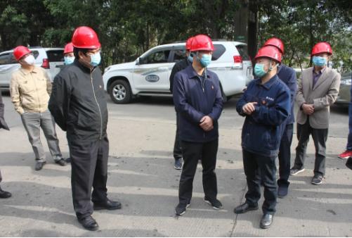 市政协党组书记、主席李群林到煤化新能源调研疫情防控和复...